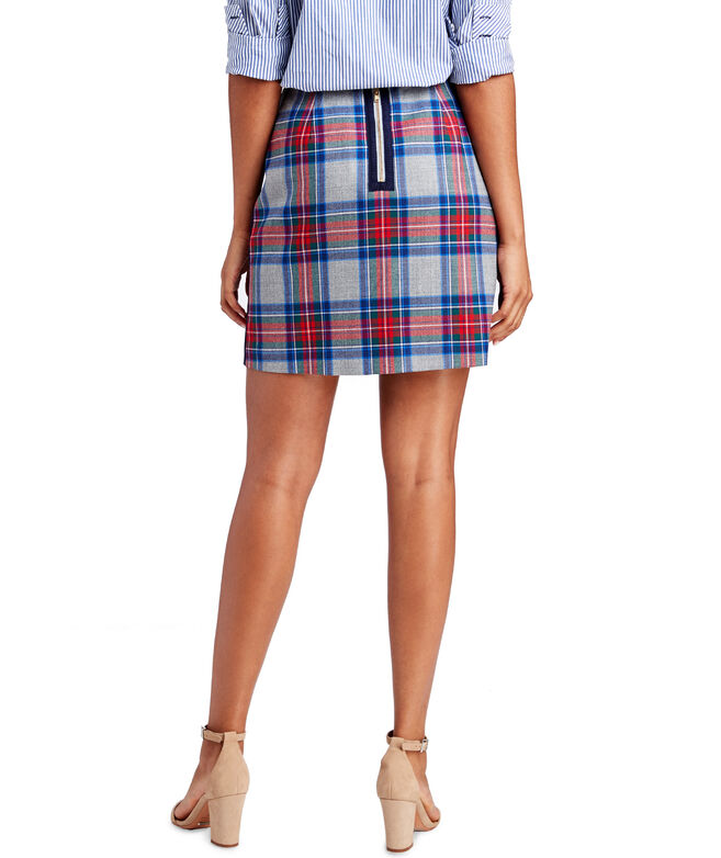 Jolly Plaid Postage Stamp Skirt
