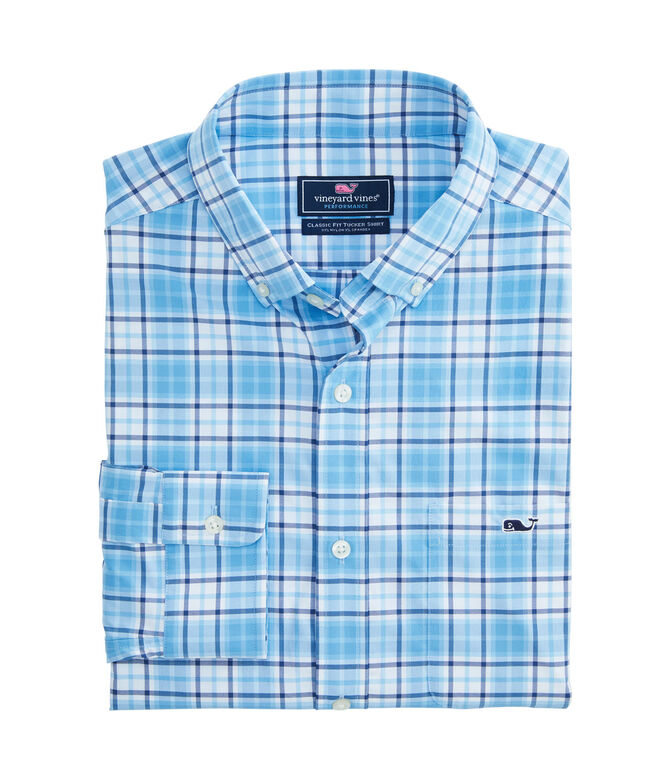 Big & Tall Classic Bluehead On-The-Go Performance Tucker Shirt