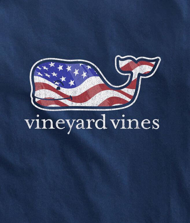 Details about  /NWT Boy/'s MEDIUM 12-14 Vineyard Vines Waving USA Flag Patriotic Whale T-Shirt
