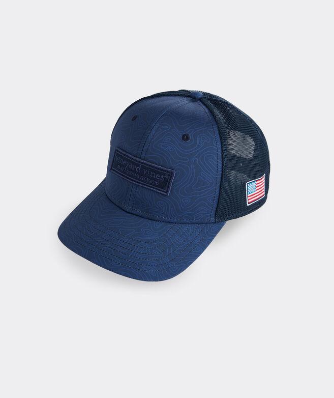 Tonal Topo Logo Performance Trucker Hat