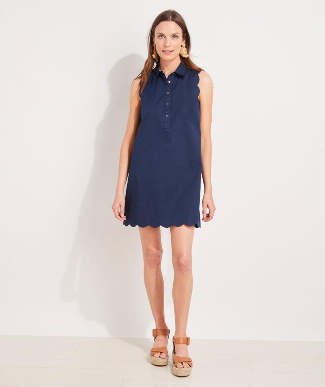 Scalloped Margo Shirt Dress