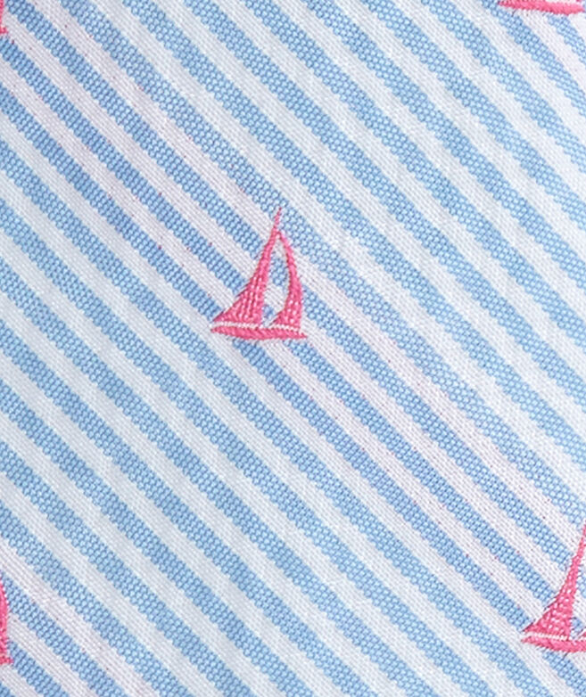 Seersucker Sailboats Kennedy Skinny Tie