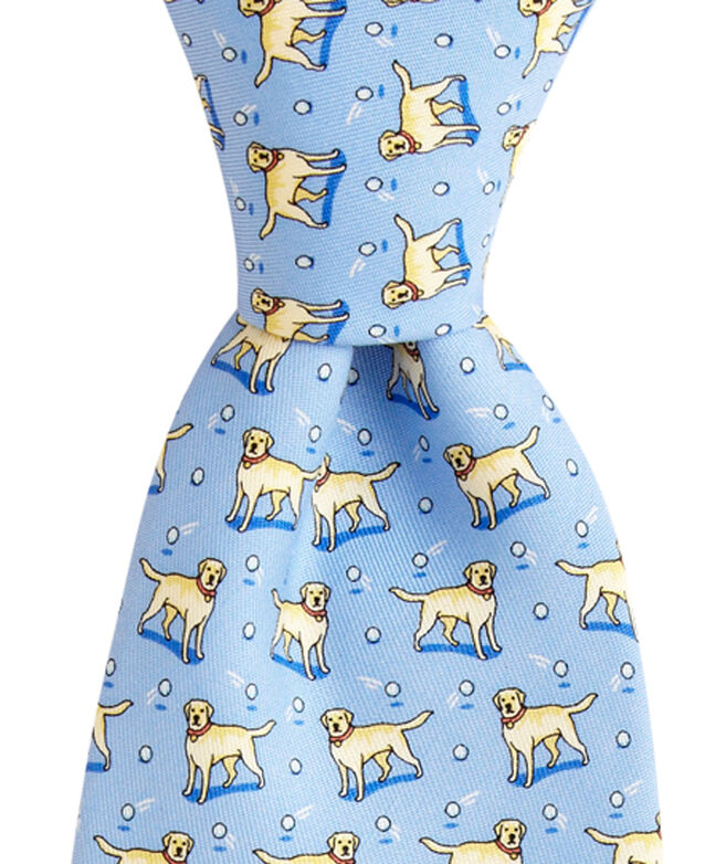 OUTLET Yellow Lab Printed Tie