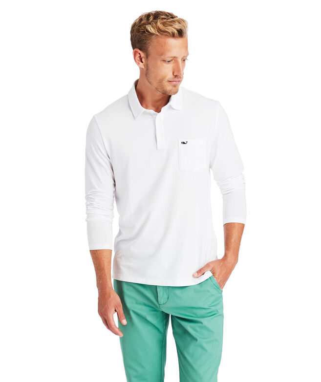 Edgartown Long-Sleeve  Polo
