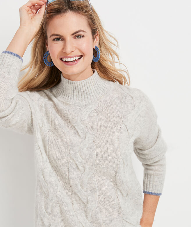 Lofty Fisherman Mockneck Sweater