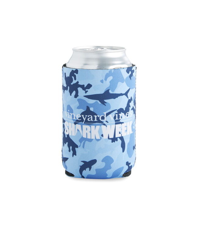 Shark Week Camo Coozie