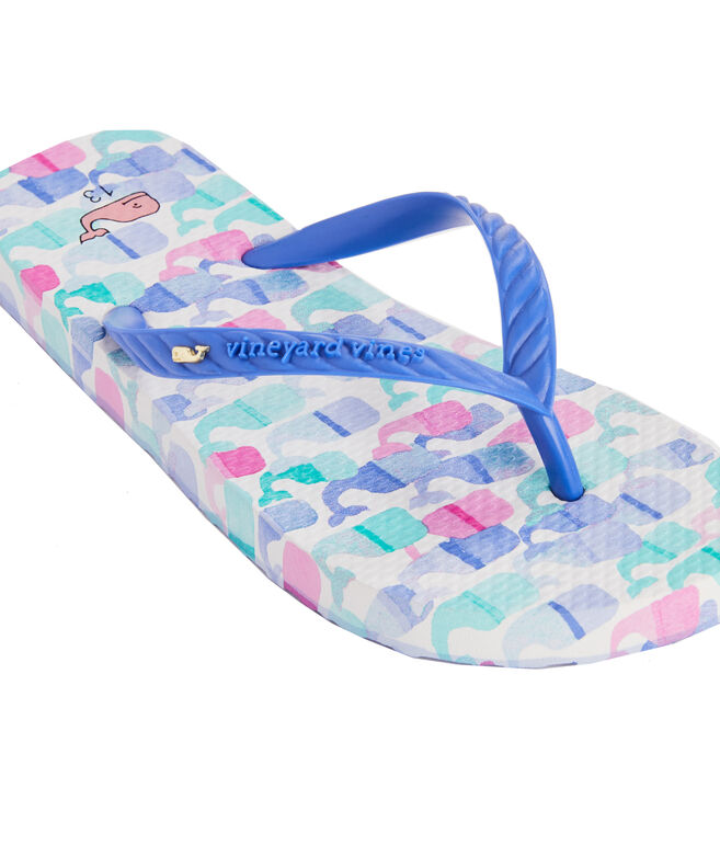 Girls Candy Whale Printed Flip Flops