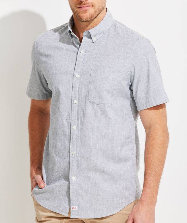 Slim Fit Full Moon Murray Short-Sleeve Button-Down Shirt