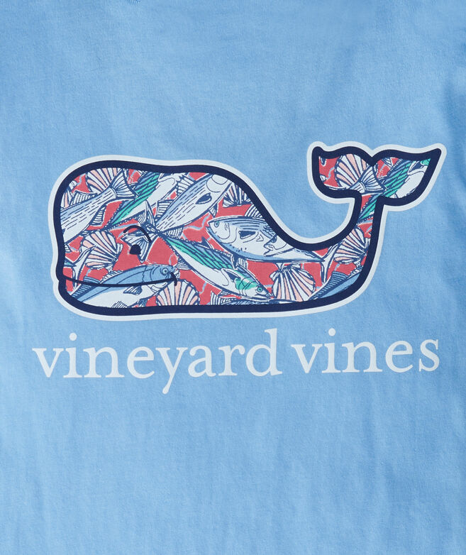 Boys' Martha's Vineyard Fish Whale Short-Sleeve Pocket Tee