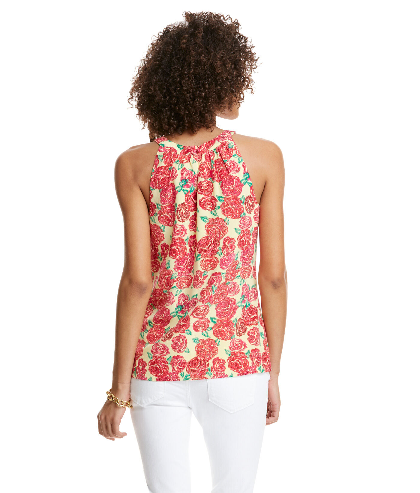 Run For The Roses Print Top