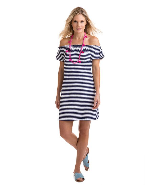Short-Sleeve Knit Off The Shoulder Dress