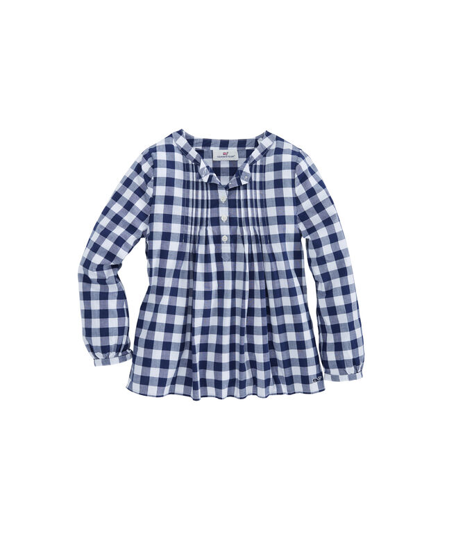 Girls Lookout Gingham Popover