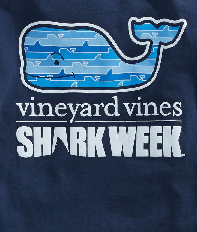 Womens Long-Sleeve Shark Week Whale Line Whale Fill Tee