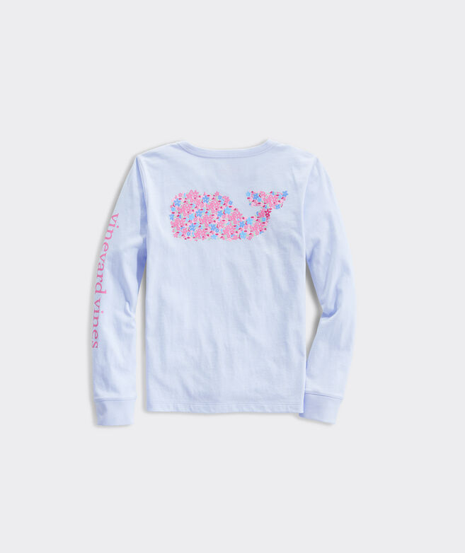 Girls' Mothers Day Whale Long-Sleeve Pocket Tee