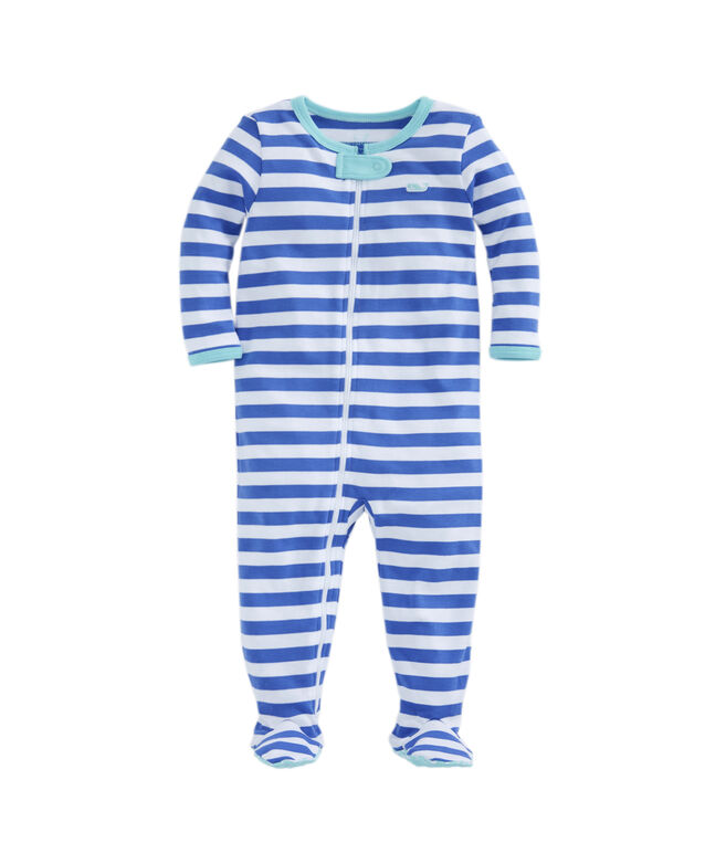 Marlin Stripe Footed One-Piece