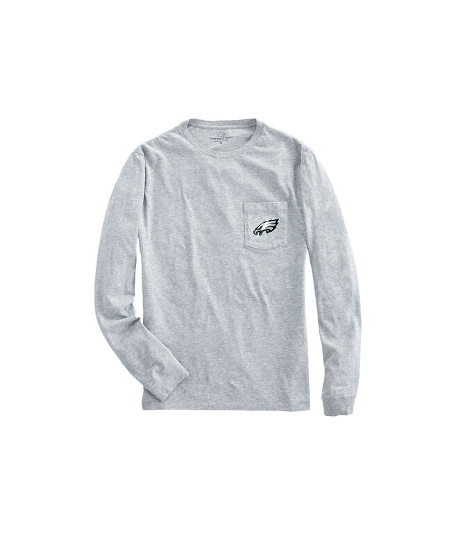 Philadelphia Eagles Long-Sleeve Block Stripe T-Shirt
