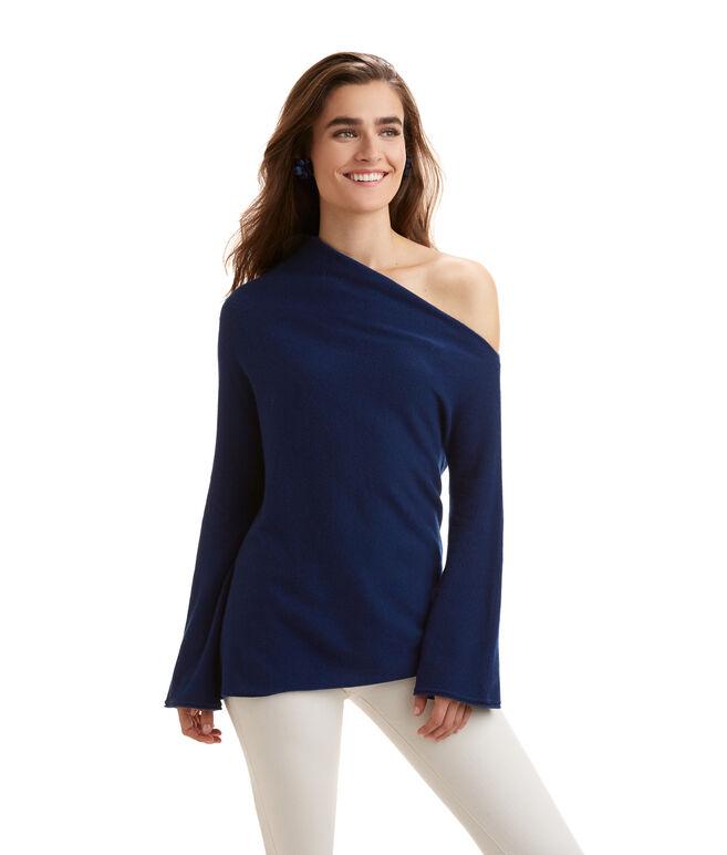 Cashmere One Shoulder Sweater