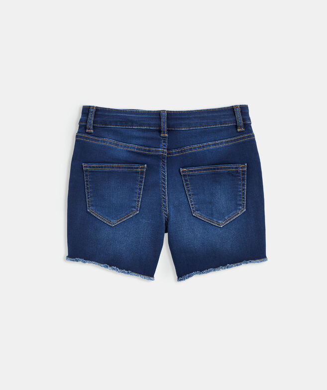 Girls' Indigo Denim Shorts