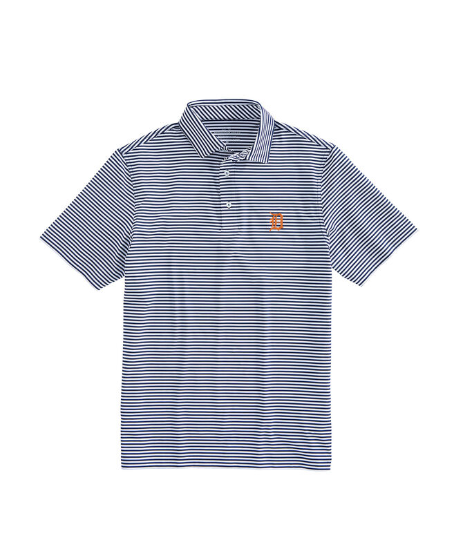 Detriot Tigers Winstead Stripe Sankaty Performance Polo