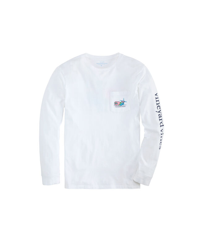Apres Ski Bro Whale Long-Sleeve Pocket Tee