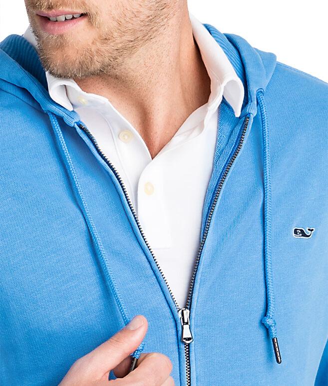 Garment-Dyed Full Zip Hoodie