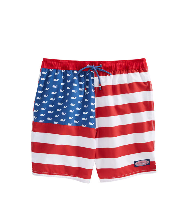 USA Flag Chappy Trunks