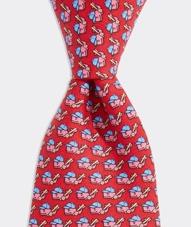 Boys Baseball Whale Printed Tie