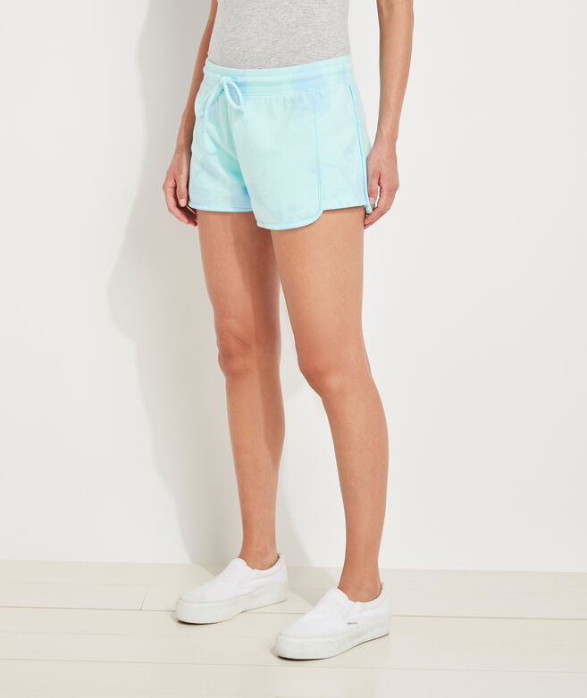 Tie-Dye Knit Pull-On Shorts