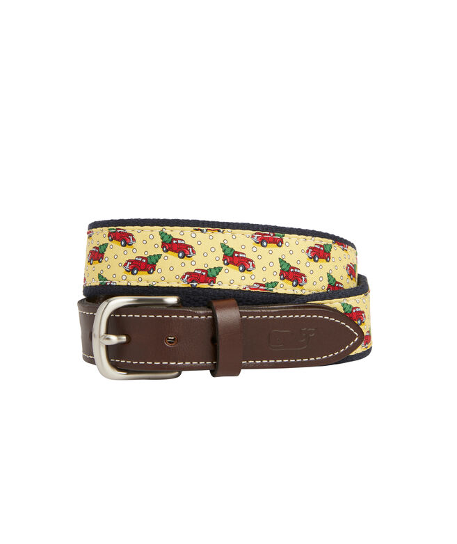 Boys Truck & Tree Canvas Club Belt