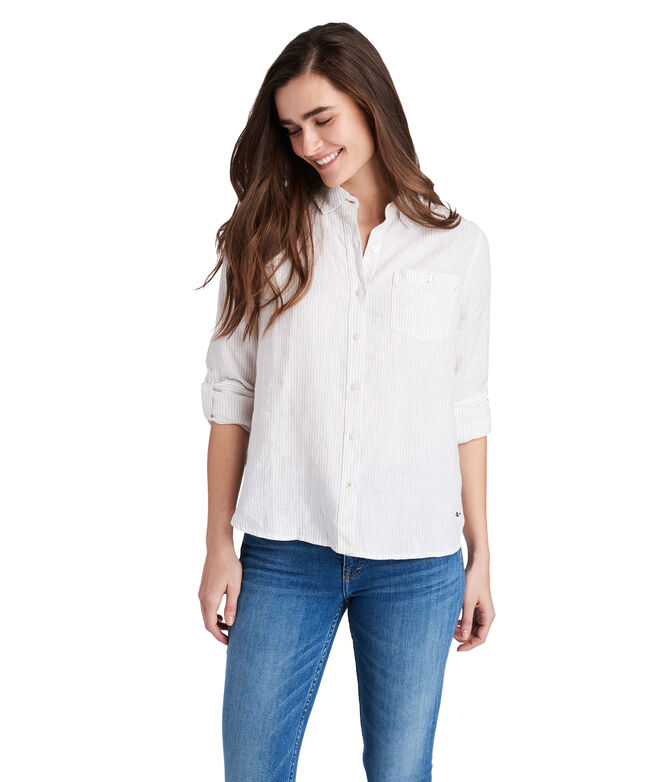 Striped Linen Chilmark Relaxed Button Down