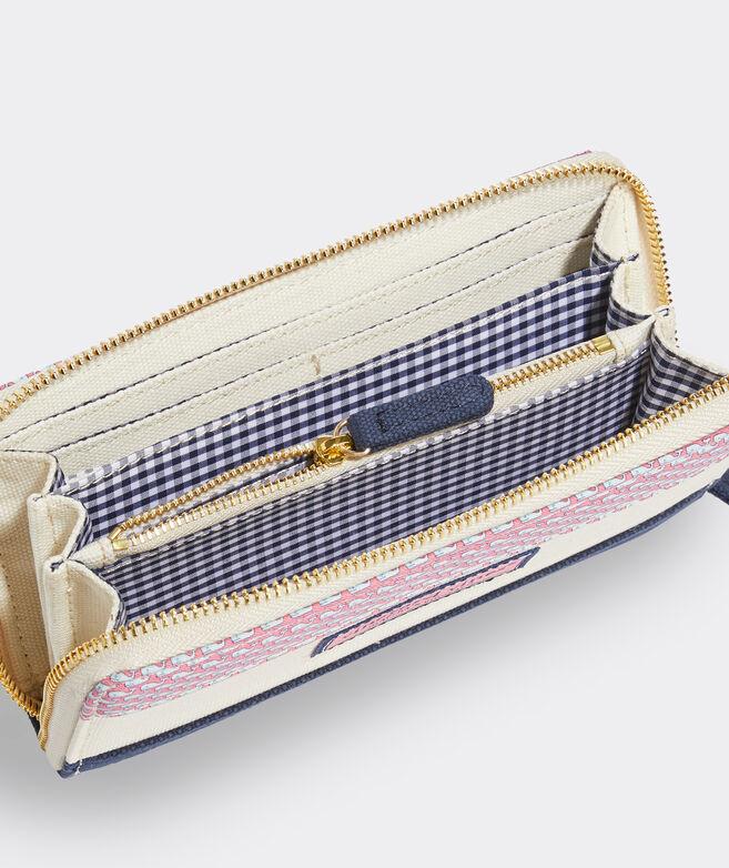 Vineyard Whale Zip Wallet