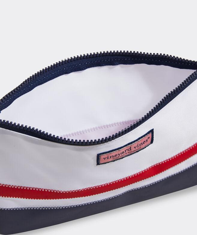 Striped Sailcloth Pouch