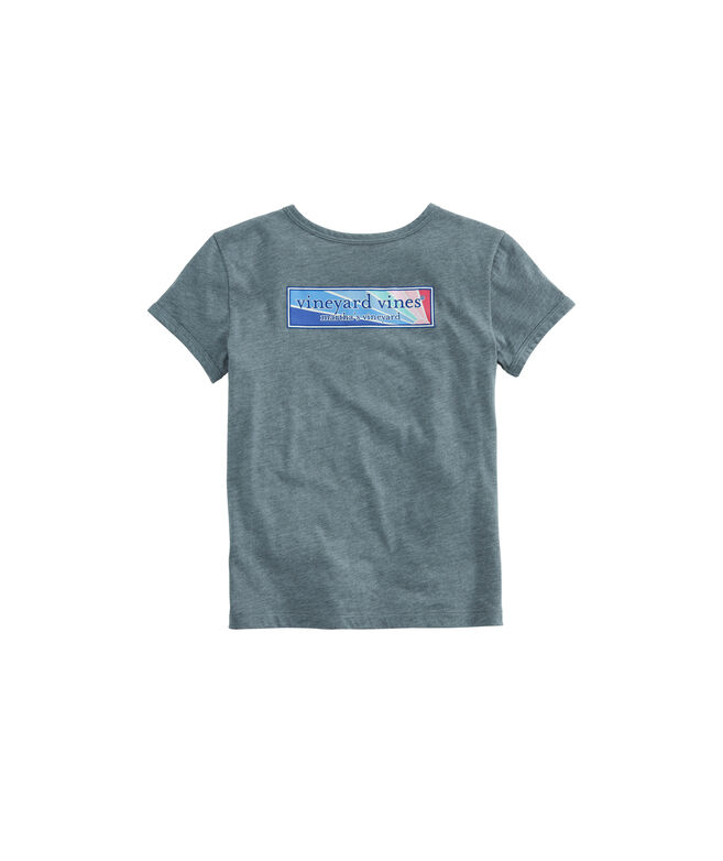Girls Sunset Logo Box Ringer Island Tee