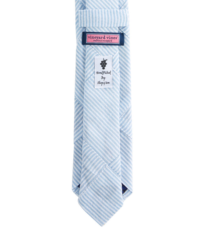 Seersucker Patchwork Kennedy Tie