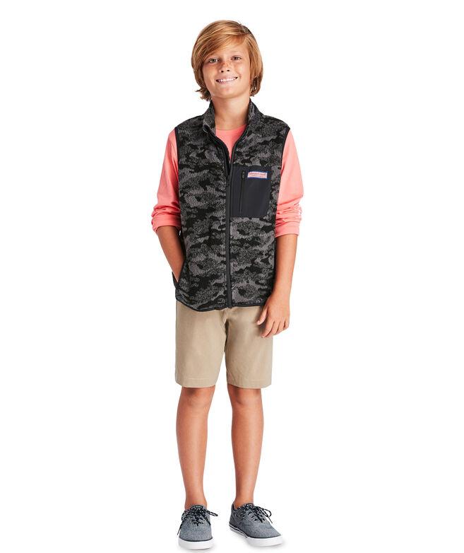 Boys Camo Sherpa Vest