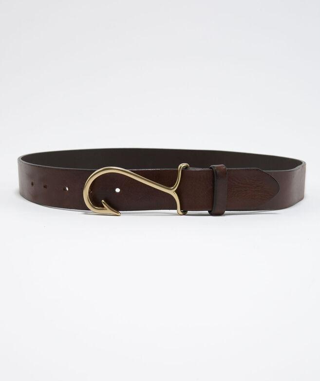 Men 39 s belts fish hook leather belt for men vineyard vines for Fish hook belt