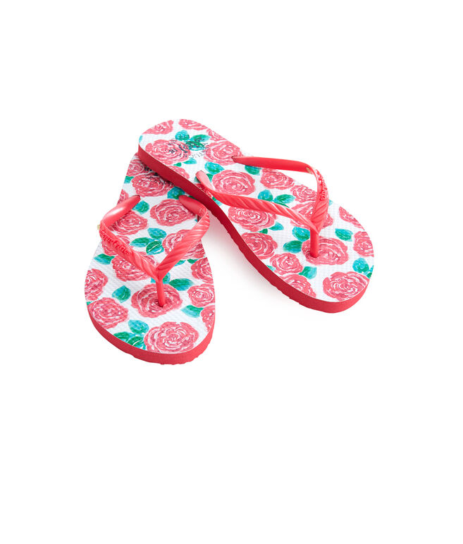 Kentucky Derby Run For The Roses Flip Flops