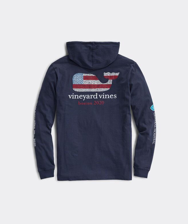 Boston Marathon USA Whale Long-Sleeve Hoodie Tee
