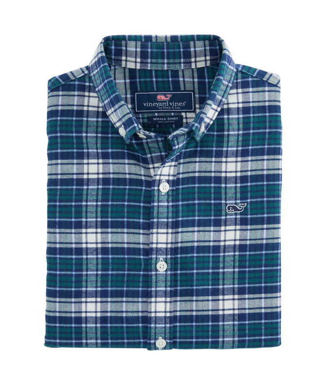 Boys Tower Ridge Flannel Whale Shirt