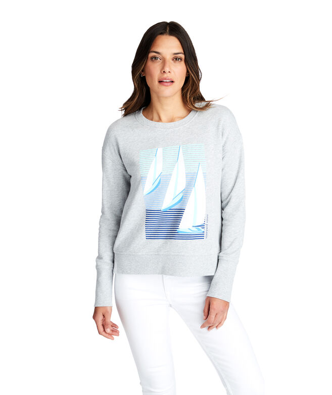 Long-Sleeve Sailboats Sweatshirt
