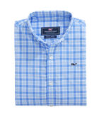 Boys Mashpee Plaid Performance Nylon Whale Shirt