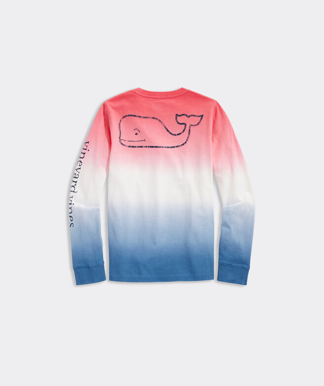 Boys' Dip Dye Vintage Whale Long-Sleeve Pocket Tee