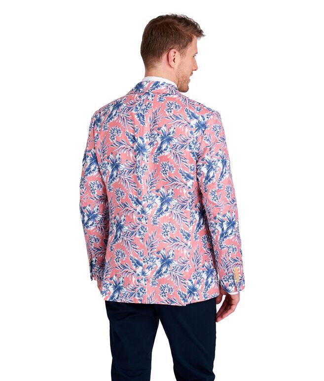 Linen Guana Floral Print Blazer