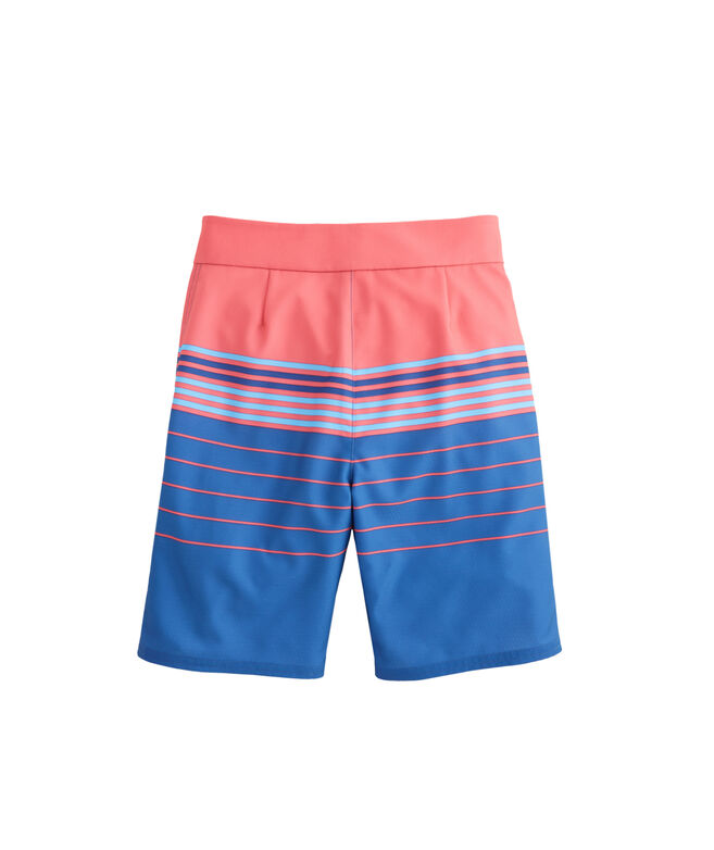 Boys Stripe Stretch Board Shorts