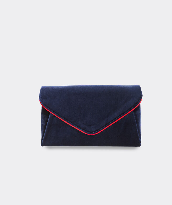 Wildflowers Velvet Envelope Clutch