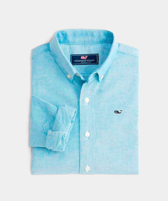 OUTLET Boys' Solid Oxford Whale Shirt