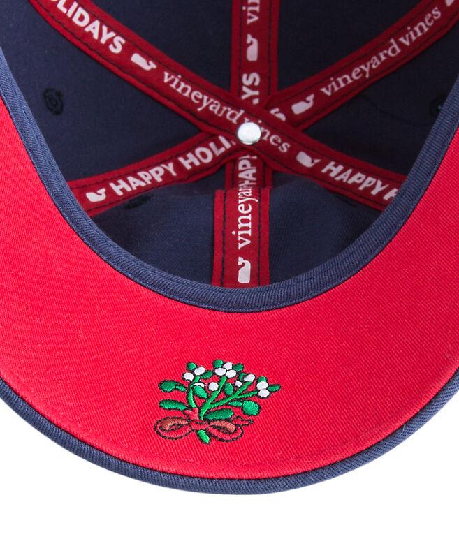 Santa Whale Mistletoe Baseball Hat