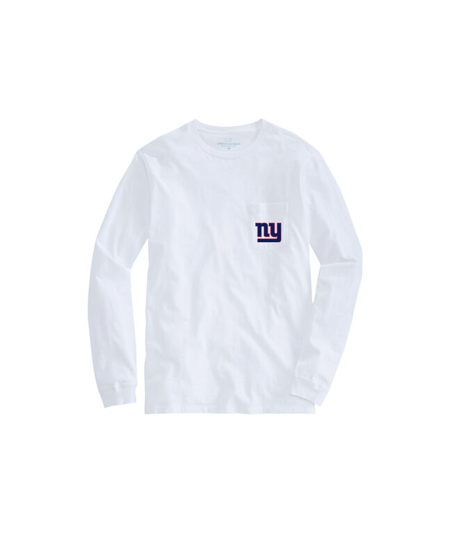 Adult Long-Sleeve Giants Block Stripe T-Shirt