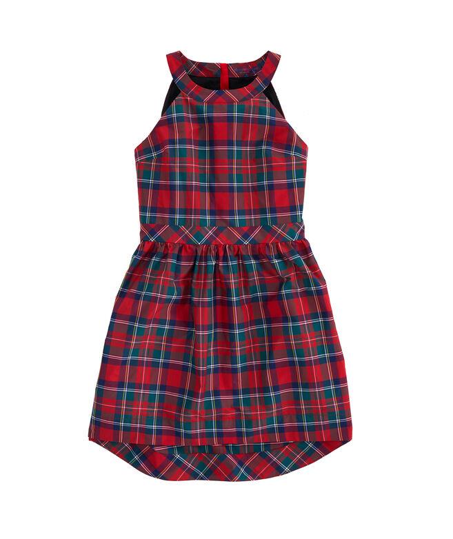 Merry Plaid Taffeta Party Dress