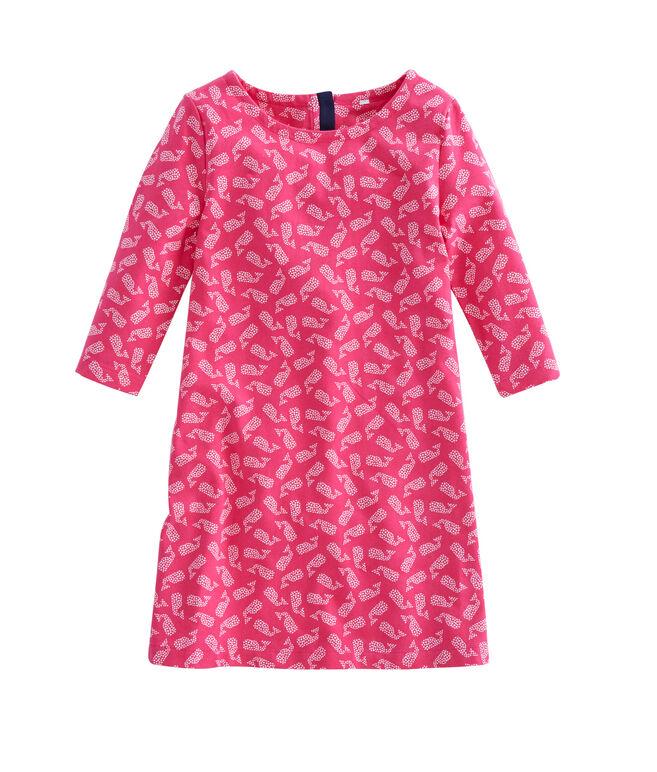 Girls Polka Dot Whale Knit Dress